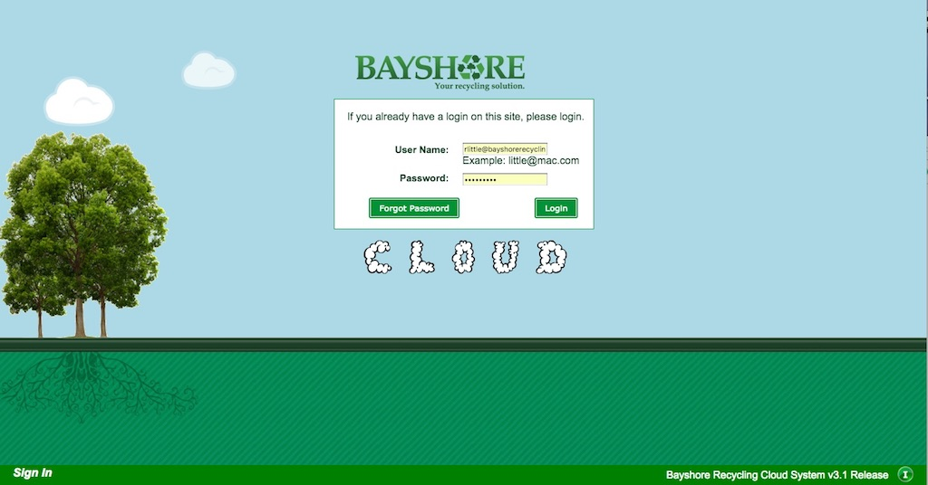 Bayshore cloud home page
